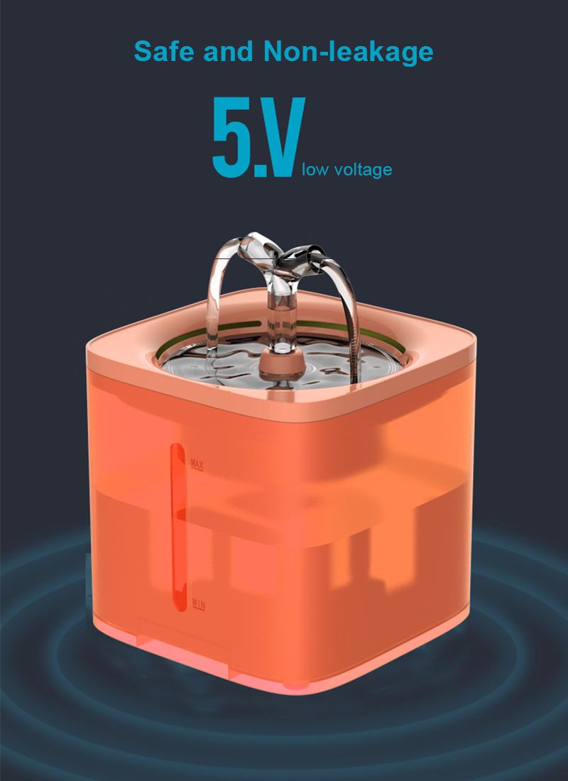 safe pet water fountain