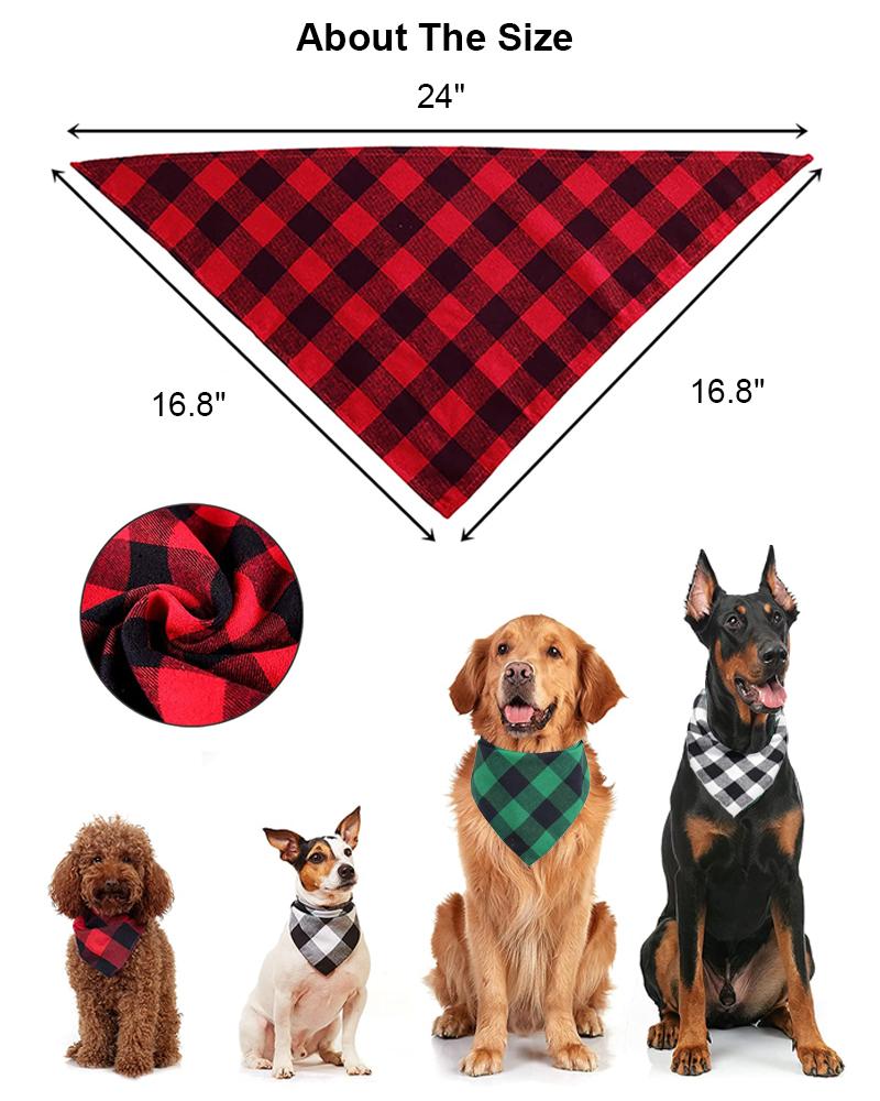 the size of cut dog bandana