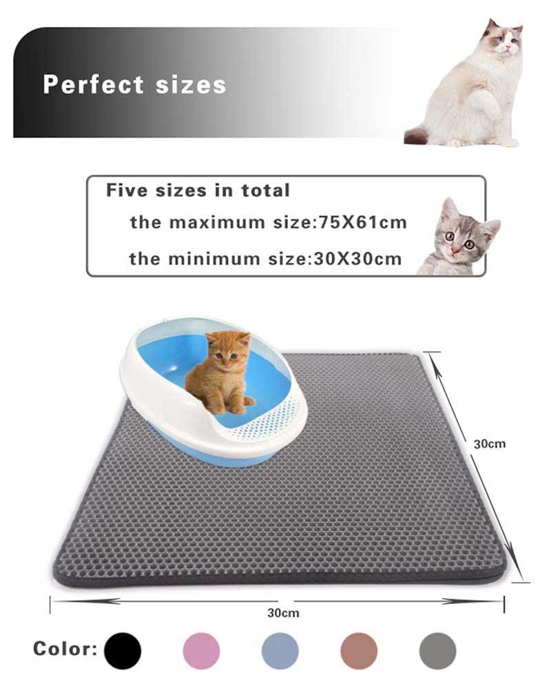 Cat litter mats size