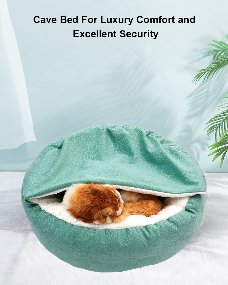 cave dog cat bed