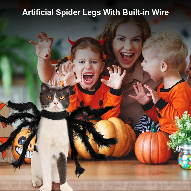 pet halloween 8 artificial spider legs costume