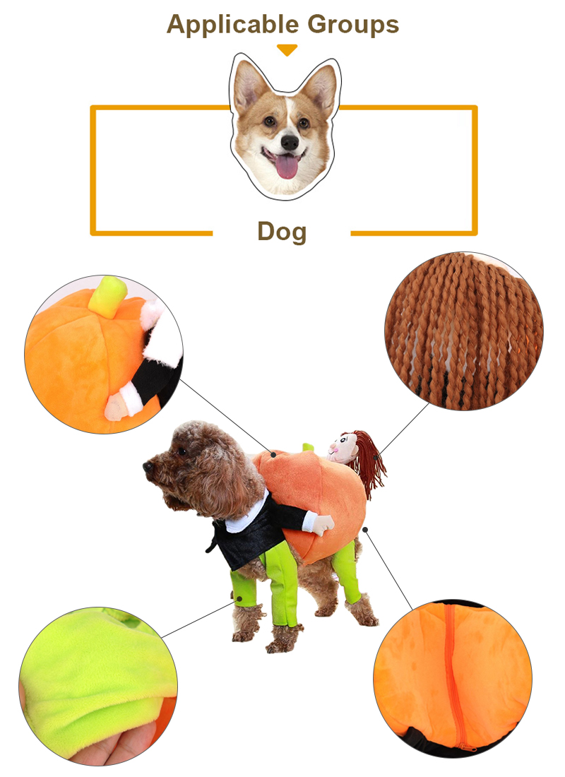 funny dog costume made of cotton