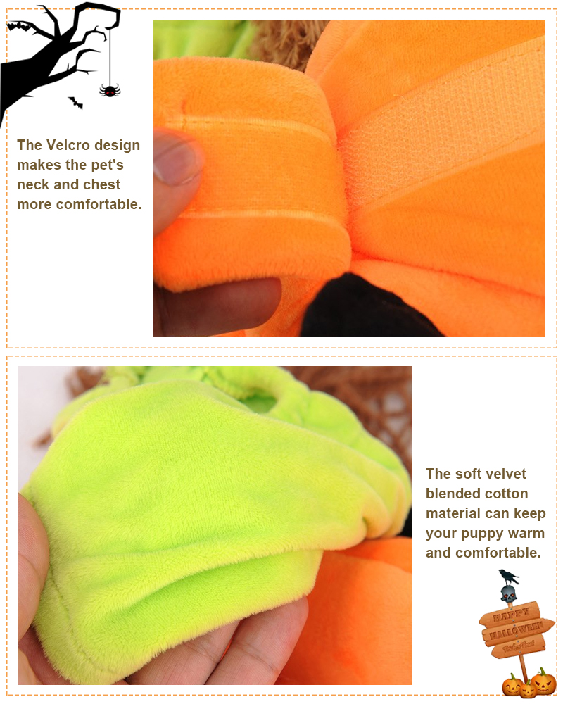 funny dog costume design with velcro