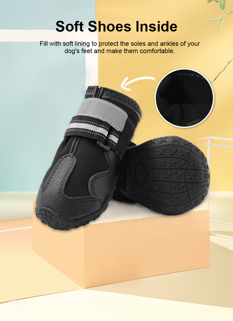 breathable dog shoes details 2