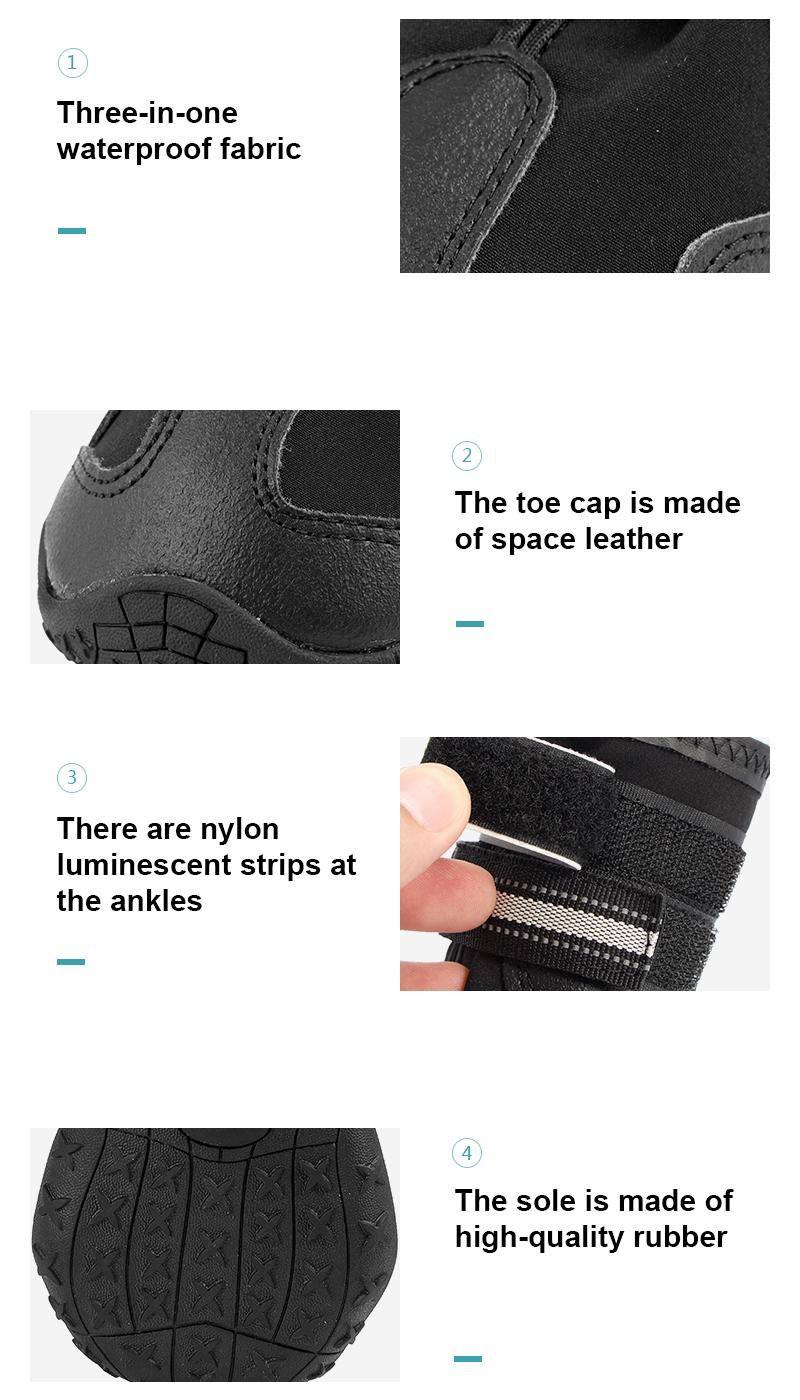 breathable dog shoes details 5
