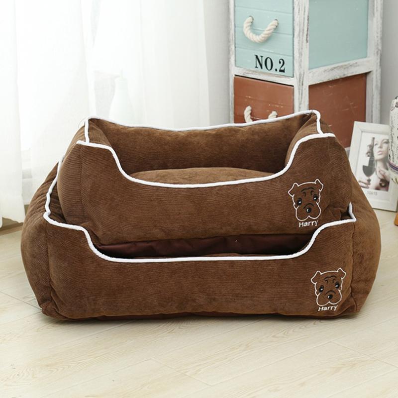 brown pet bed
