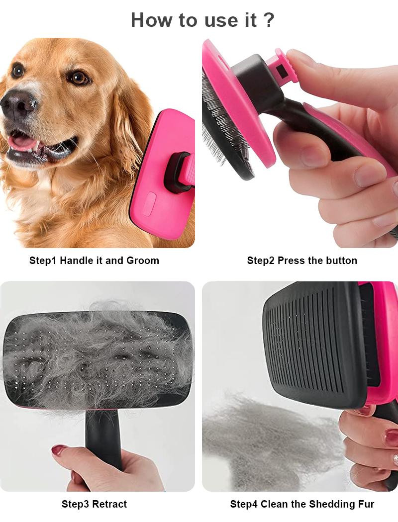 how to use pet bursh