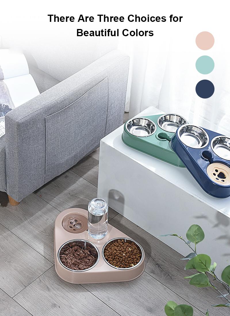 three color design pet bowl