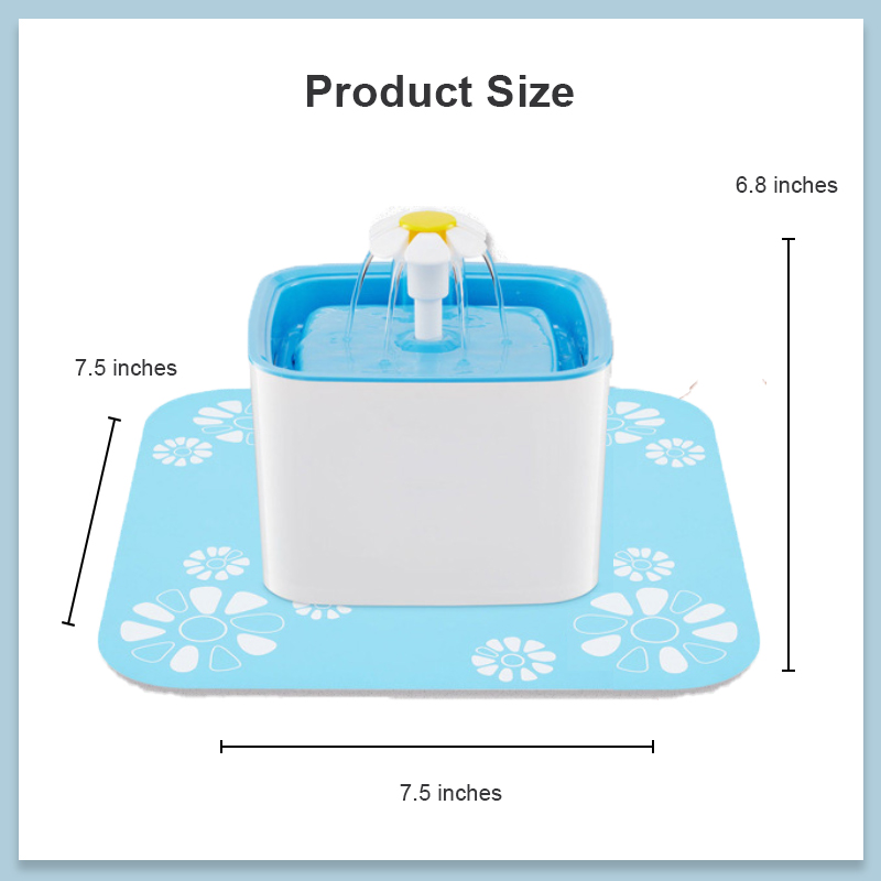 size picture of pet fountain