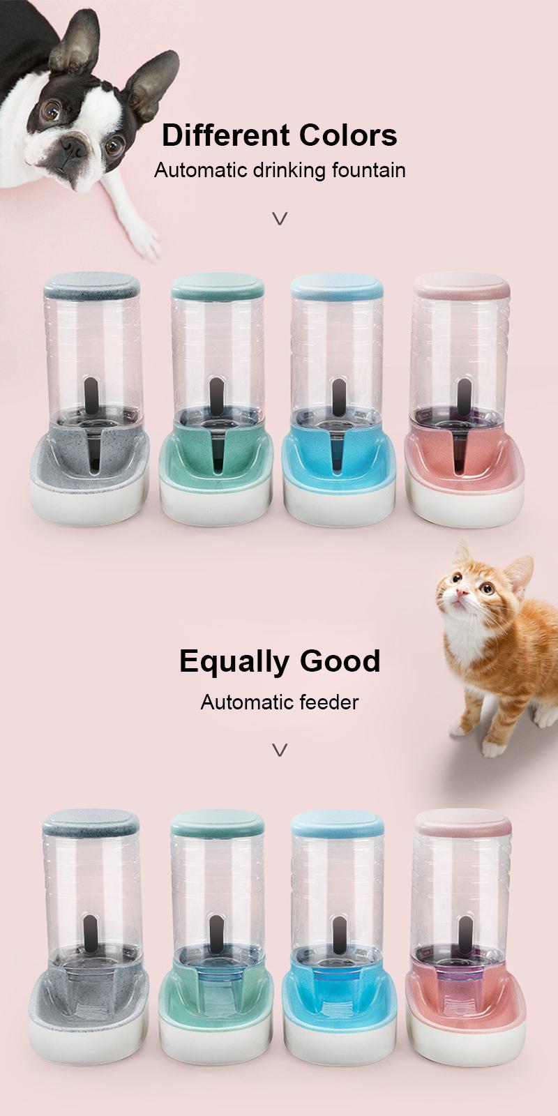 pet feeder set colors