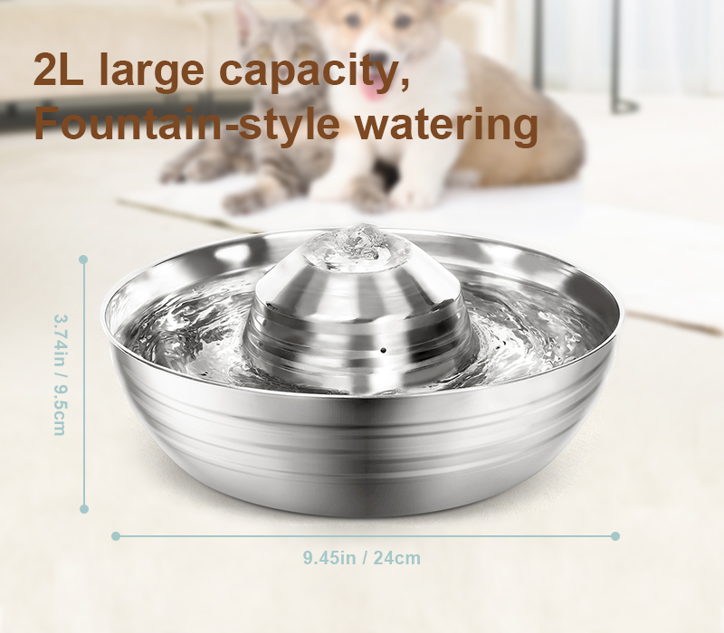 stainless steel water fountain size