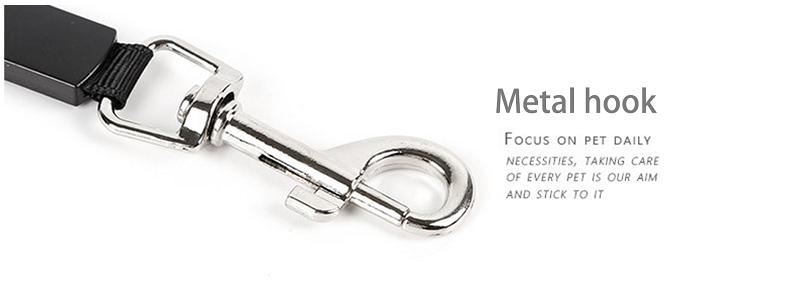 metal lock of the dog leash