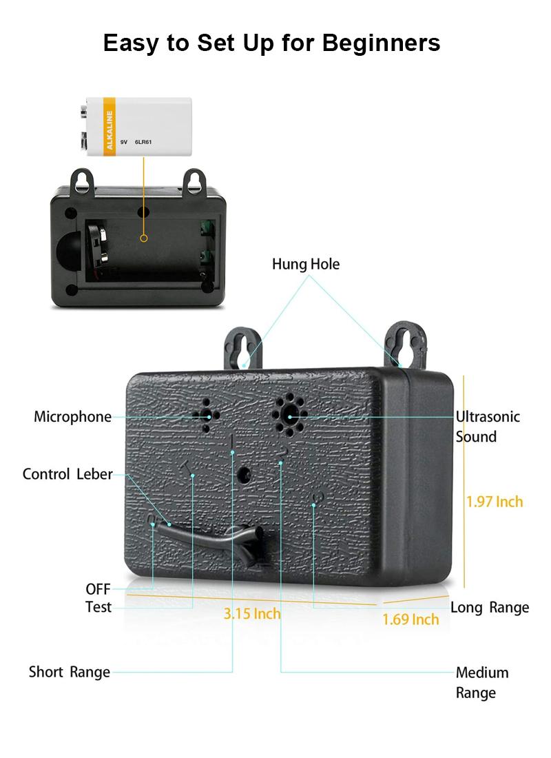 ultrasonic bark stopperpet details 3